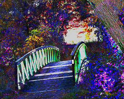 Dead End Bridge Beautiful Graffiti Style Wall Painting Digital Graphic Art By Navinjoshi Facinated B Poster
