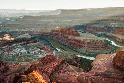 Dead Horse Point At Sunset Poster by Gregory Ballos