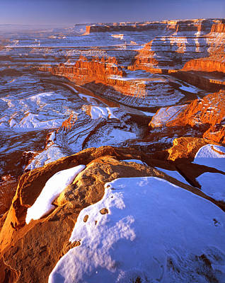 Dead Horse Point In Winter Poster by Ray Mathis