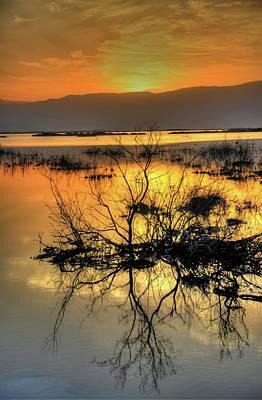 Dead Sea At Sunrise Poster