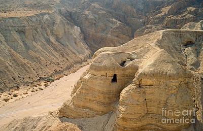 Dead Sea Scrolls Cave Qumran Poster by Daniel Blatt