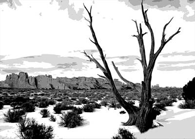 Dead Tree In Winter Poster by Jack McAward