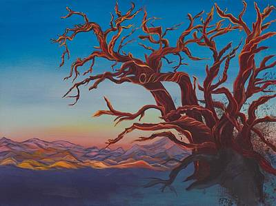 Poster featuring the painting Dead Tree by Yolanda Raker