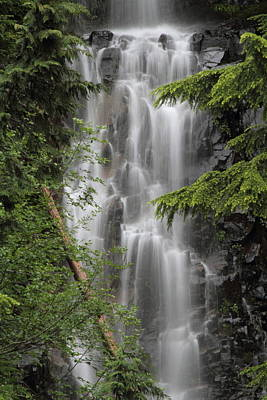 Deadwood Creek Waterfall Poster by Angie Vogel