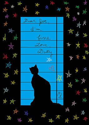 Dear Joe Love Dusty Poster by Anita Dale Livaditis