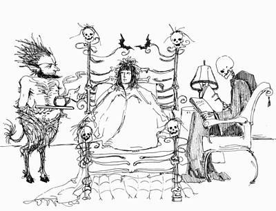 Death Bed Poster by Katherine Miller