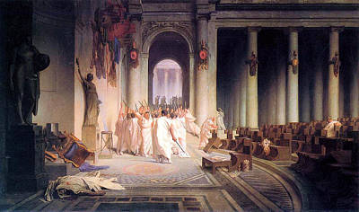 Death Of Caesar Poster by Jean Leon Gerome