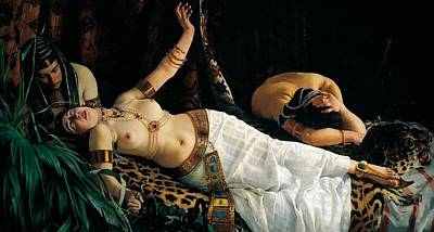 Death Of Cleopatra Poster by Achilles Glisenti