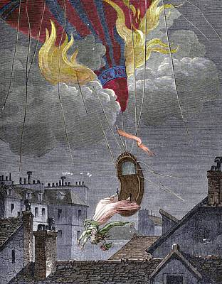 Death Of Sophie Blanchard Poster by Sheila Terry