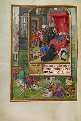 Deathbed Scene Master Of James Iv Of Scotland, Flemish Poster