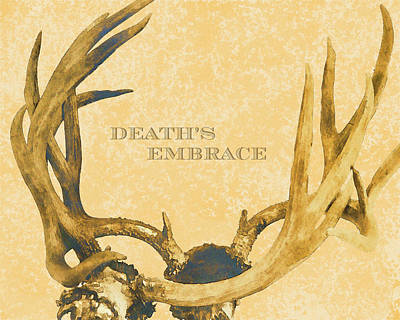 Death's Embrace Poster by Paul Ashby Antique Image