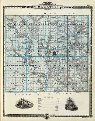 Decatur County Map Poster by Gianfranco Weiss