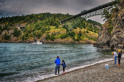 Deception Pass Poster by Kelly Reber