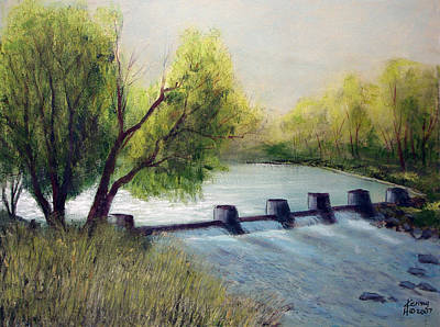 Poster featuring the mixed media Dechutes River by Kenny Henson