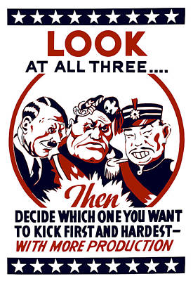Decide Which One You Want To Kick First And Hardest Poster by War Is Hell Store