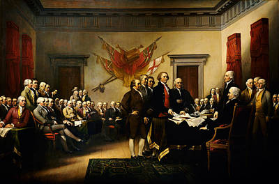 Declaration Of Independence Poster by MotionAge Designs