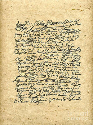Declaration Signers Poster by God and Country Prints