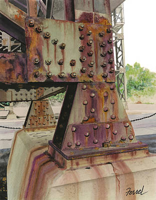 Poster featuring the painting Declining Infrastructure by Ferrel Cordle