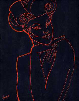 Deco Girl Poster by Luis  Navarro