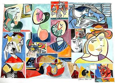 Deconstructing Picasso - Women Sad And Betrayed Poster