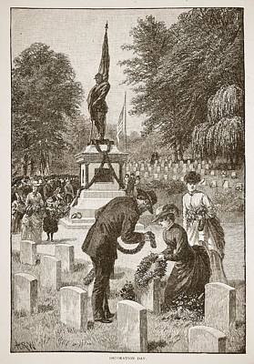 Decoration Day, From A Book Pub. 1896 Poster