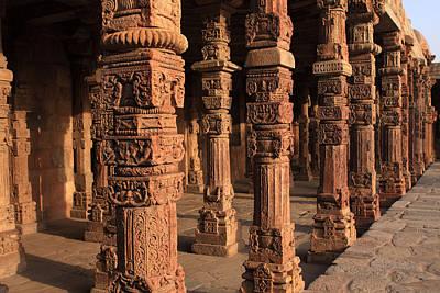 Decorative Pillars - Qutab Minar Poster by Aidan Moran