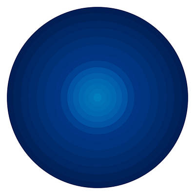 Deep Blue Circles Poster