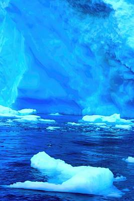 Poster featuring the photograph Deep Blue Iceberg by Amanda Stadther