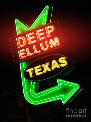 Deep Ellum Red Glow Poster