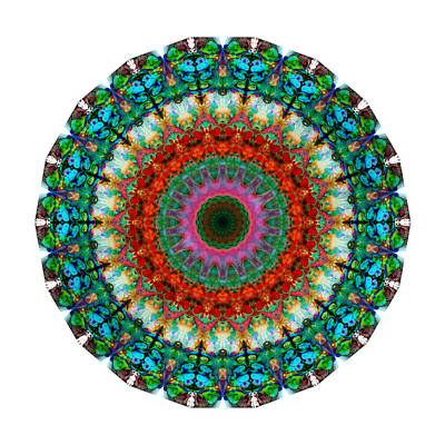Deep Love - Mandala Art By Sharon Cummings Poster