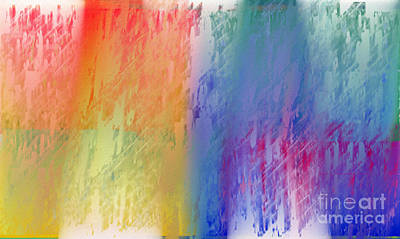Deep Rich Sherbet Abstract Poster by Andee Design