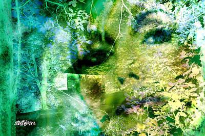 Poster featuring the digital art Deep Woods Wanderings by Seth Weaver