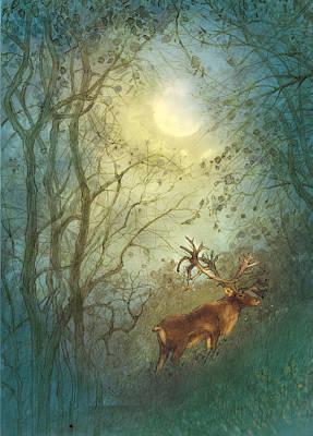 Deer Poster by Cher Jiang