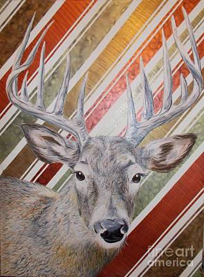 Poster featuring the painting Deer Deco by PainterArtist FINs husband