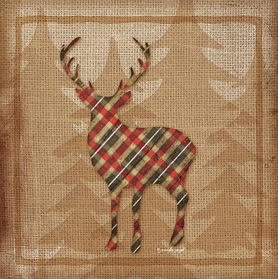 Deer Plaid Poster