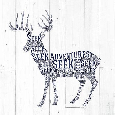 Deer Shiplap Poster