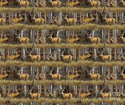 Deer Woods Duvet Pillow Art Poster