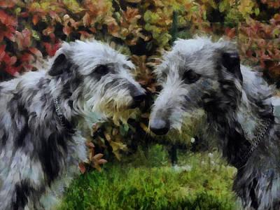 Deerhounds Poster by Janice MacLellan
