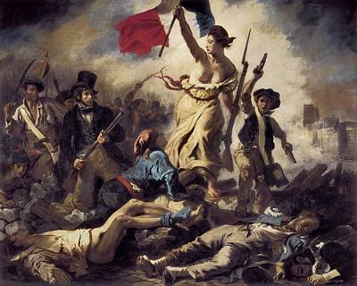 Delacroix, Eug�ne 1798-1863. Liberty Poster by Everett