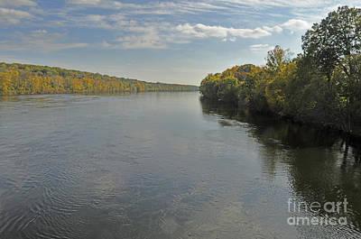 Delaware River In Autumn Poster