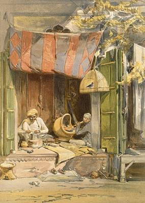 Delhi - Jeweller, From India Ancient Poster by William 'Crimea' Simpson