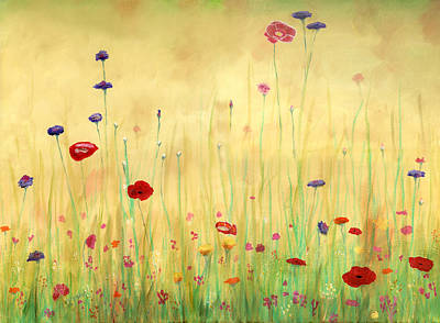 Delicate Poppies Poster