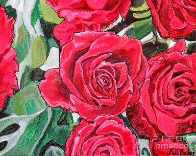 Poster featuring the painting Delight Of Grandma's Roses Painting by Kimberlee Baxter