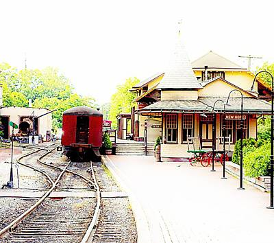 Delightful Train Station Poster by Marcia Lee Jones
