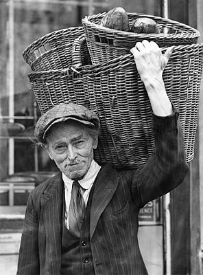 Delivering Baskets Of Bread Poster by Underwood Archives