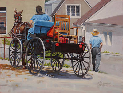 Delivering The Chair Poster by Todd Baxter
