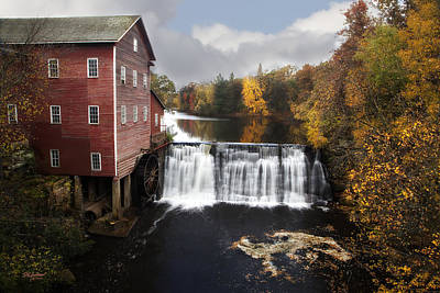 Dells Mill Fall Color Poster