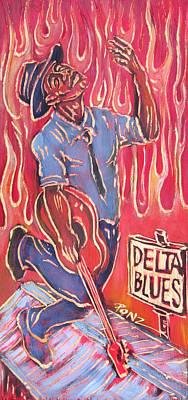 Delta Blues Poster by Robert Ponzio