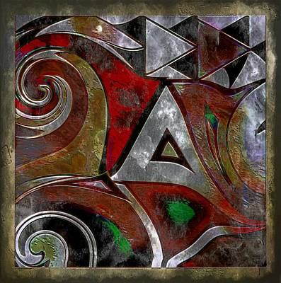 Delta Inspired Abstract Poster by Lynda Payton