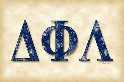 Delta Phi Lambda - Parchment Poster by Stephen Younts